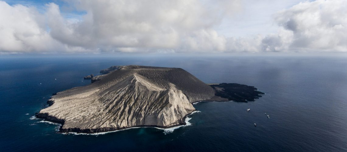Aerial,View,Of,San,Benedicto,Island,And,Its,Volcano,,Archipelago